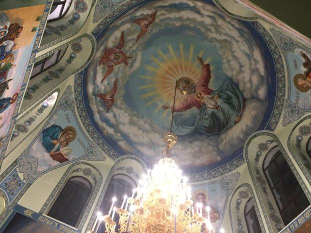В Свято-Троицком храме завершен первый этап росписи